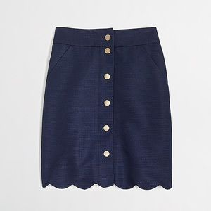 J Crew Button Down skirt